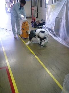 某工場内塗り床補修